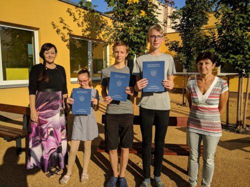 Ocenění úspěšných žáků naší školy